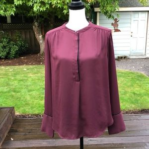 Beautiful Halogen Burgundy Blouse